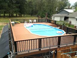 Above Ground Swimming Pool Deck Designs Interesting Inspiration Ideas