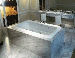 drop in tub. Roman Drop In Tub With Marble Tile Mount From MAAX R