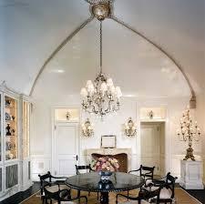 large chandelier elegant dining room vaulted ceiling lighting ideas creative lighting