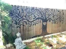 large decorative garden wall art