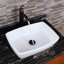 elimax s 302 unique rectangle shape white porcelain ceramic bathroom vessel sink free today com 19151691