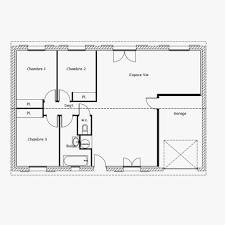 Plan De Maison Rectangulaire Plain Pied Meilleur De Cuisine Plan