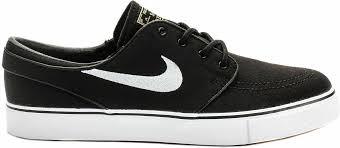 Nike Sb Stefan Janoski Shoes Black White Gum Light Brown Mens Nike Zoom Stefan Janoski Canvas Skateboard Shoes Black White 615957 028