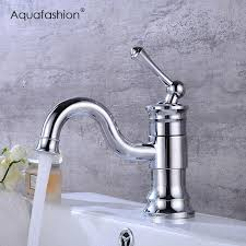 2019 new arrival swivel spout bathroom faucet golden plated finish basin tap single handle gold faucet from herbertw 81 05 dhgate com