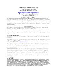 Cosmetology Cover Letter Brilliant Ideas Of Resume Cover Letter