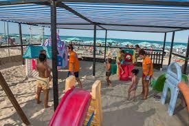 Lettini per spiagge : Spiaggia camping del gabbiano