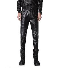 idopy men steampunk leather pants