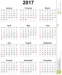 year calender calendar for the year 2017 stock photo image 65742420