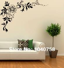 large paper flowers wall stickers home decor wall decals art picture