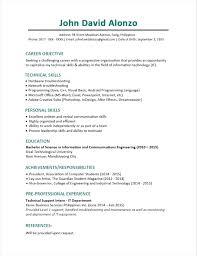 Curriculum Vitae Example For Fresh Graduate Sample Resume