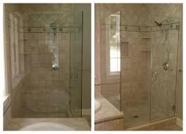 frameless clear glass shower doors
