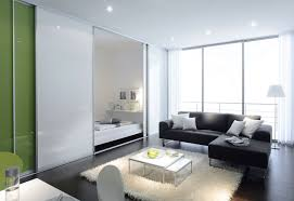 large dliding door glass black white