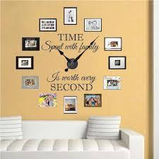 real family clock wall decal clock