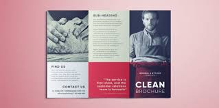 Trifold Brochure Indesign Template Amazing Clean Trifold Brochure Template Free Download