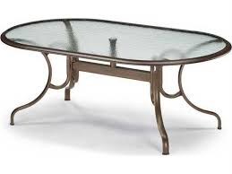 d oval dining table with umbrella hole