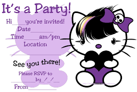 hello kitty coloring pages all these printable invitations are a little bit quirky so i have grouped them together they show hello kitty as a goth emo