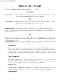 Sample Contracts For Services Service Agreement Template Free Form ...