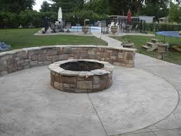concrete patio with fire pit. Perfect Pit Inspiring Stamped Concrete Patio With Fire Pit Is Like Exterior Home  Painting Remodelling Fireplace Ideas Intended S