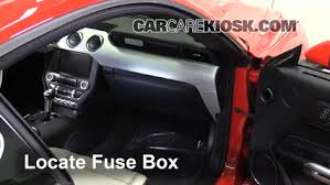 interior fuse box location 2015 2016 ford mustang 2015 ford Mustang Fuse Box locate interior fuse box and remove cover mustang fuse box