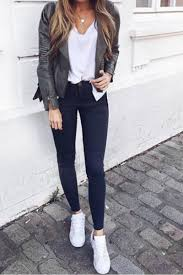 cute outfits to wear with leather jackets