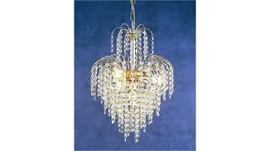4 light chandelier waterfall gold abstract crystal