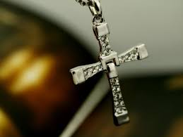details about mens silver cross necklace chain pendant crucifix fast and the furious new
