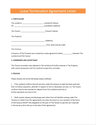 termination letter template landlord termination of lease letter template write happy ending