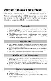 Exemplos De Curriculos Modelos De Curriculum Prontos Viriato Curriculum E Education