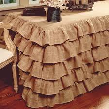 multi ruffle burlap tablecloth