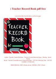 Teacher Record Download Pdf Teacher Record Book Pdf Free