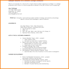 Recent College Graduate Resume Template 100 college student resume no experience graphicresume 86