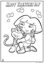 Small Picture Dora Happy Valentines Day Coloring Page 8
