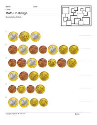 Counting Euros 3 Worksheet for 2nd - 3rd Grade | Lesson Planet
