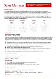 Sales Manager Resume Sample Musiccityspiritsandcocktail Com