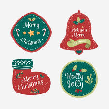 Christmas Designs For Badges And Logos Collection Vector