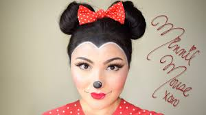 minnie mouse makeup and hair tutorial delia ahmed you