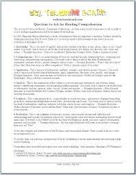 Kindergarten Grade Reading Comprehension Worksheets 1 Comprehensions ...
