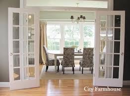 Dining Room Glass french doors