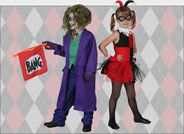 kids harley quinn and joker costumes