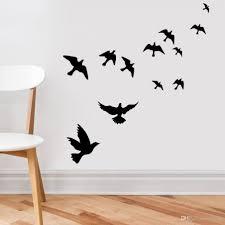 Fascinating Flying Birds Wall Art Metal Bird Sticker Wall Art Pertaining To  Birds On A Wire