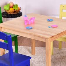 kids play room furniture. Costway Kids 5 Piece Table Chair Set Pine Wood Multicolor Children Play Room Furniture D