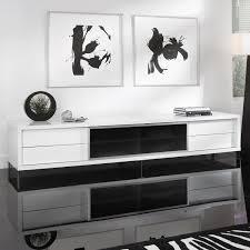 lexington tv stand  white lacquer  modloft living  touch of modern