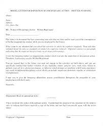 Company Name Final Warning Letter Written Employee Example Uk Sample