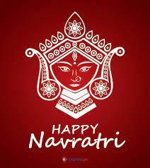 background of happy navratri maa durga