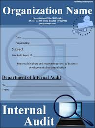 Audit Report Cover Page Template