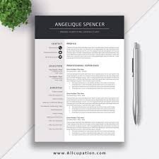 Modern Cv Word Creative Resume Template Modern Cv Word Cover Letter One Page Do