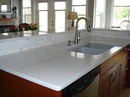 simple white quartz countertops