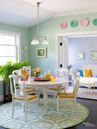 Mint green furniture Cb2 Circle Motif Breakfast Nook Better Homes And Gardens Decorating With Mint