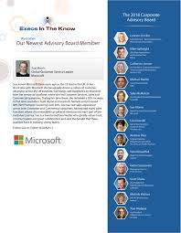 sue morris global customer service leader microsoft joins execs in the know corporate advisory board