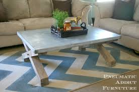 ana white pottery barn knock off zinc coffee table diy projects for top pottery barn coffee table for your home design